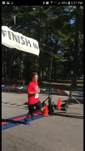 Michael Donvito Class of 2024 crossing the finish line...